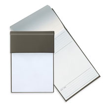 memo pads with gray poly holder